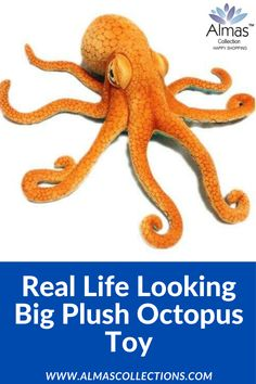 Real Life Looking Big Plush Octopus Toy, octopus plush, octopus plush toy, marine animal toy, 4048 Birthday Gifts For Boys, Birthday Gifts For Girlfriend, Friend Birthday Gifts, Boyfriend Birthday, Dad Birthday, Gifts For Kids, Octopus Plush, Big Plush, Boyfriend Gifts