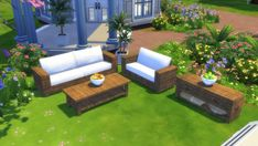 Mod The Sims: Garden Furnitures – Set by Wallpaper recolors • Sims 4 Downloads