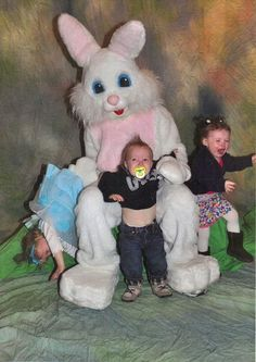 worst-Easter-bunnies.. PIN NOW READ LATER!! This is the most funnest Easter pic iv seen!!