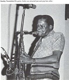 Stanley Turrentine performed at the UO 1977.  From the 1978 Oregana (University of Oregon yearbook). www.CampusAttic.com