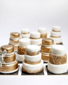 Tiny tiered cakes by