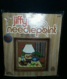 $5.95 or best offer Jiffy Needlepoint Roses Lamp Sunset Designs 5x5 Kit 5274 Canvas Yarn Needle  #JIffy