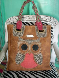 Leather handbag Owl elephant or butterfly made with by CarliBruno