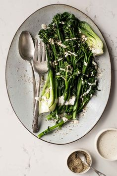 Steamed Greens with Lemon-Miso Sauce - Dishing Up the Dirt