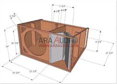 Skema box speaker cocok untuk line array. Audio Box, Pro Audio Speakers, Jl Audio, Diy Speakers, Audio Amplifier, Diy Subwoofer, Subwoofer Box Design, Speaker Box Design, 12 Inch Speaker Box