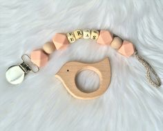 Personalized pacifier clip , teething toy, silicone pacifier clip, wood pacifier clip, chew beads https://www.etsy.com/shop/erasDIY?ref=hdr_shop_menu