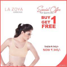 Buy  1 LA-Zoya #SportBra and Get Another free  #womenbras #womenfashion #buyonlinebras
