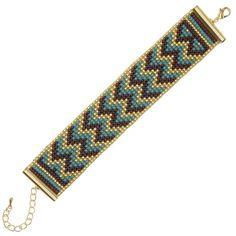 Cascading Chevrons Loom Bracelet - Exclusive Beadaholique Jewelry Kit - Bracelet…