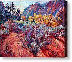 Zion Sage Canvas Print by Erin Hanson
