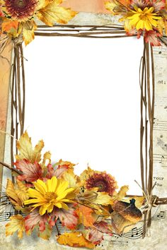 Framed Wallpaper, Holiday Wallpaper, Fall Wallpaper, Old Paper Background, Scrapbook Background, Molduras Vintage, Boarders And Frames, Boarder Designs, Autumn Illustration
