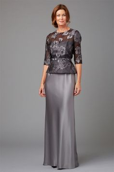 Illusion Peplum Top (Sleeve) w/ Olympia Floor Bias Skirt | Special Occasion + Mother of the Bride | Siri | StyleMePretty | Lookbook