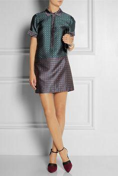 J. Crew silk-jacquard silk dress is completely effortless.