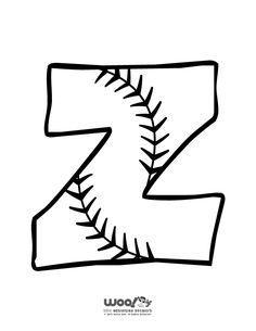 Printable Baseball Alphabet Letters Baseball Alphabet Letter Z – Craft Jr.