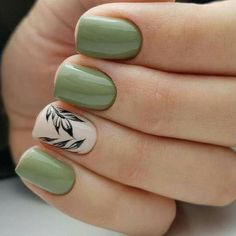 Flowers do not always open, but the beautiful Floral nail art is available all year round. Choose your favorite Best Floral Nail art Designs 2018 here! We offer Best Floral Nail art Designs 2018 .If you're a Floral Nail art Design lover , join us now ! Spring Nail Art, Nail Designs Spring, Spring Nails, Nail Art Designs, Nails Design, Nail Designs Floral, Green Nail Designs, Spring Art, Spring Green
