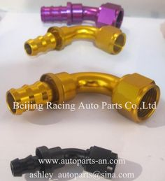 Push-on type AN Fittings- AN4, AN6,AN8, AN10, AN12, AN16 Yellow, Pink, Black, Red-Blue Color Racing Auto Parts, Car Parts