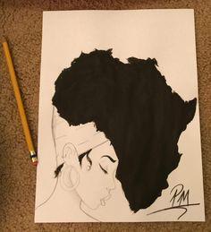 ideas for black art tattoo ideas beauty Black Art Tattoo, Tatoo Art, Afro Tattoo, Black Art Painting, Black Artwork, Black Love Art, Black Girl Art, Tatoo Africa, Tattoos Of Africa