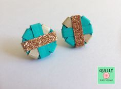 """Paper earrings """"Bottoni_01"""" by QuillyPaperDesign"""