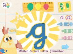 hip hop hen abc letter tracing app learn to form print and cursive letters