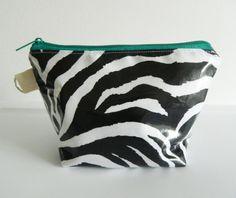 Zebra Multipurpose Laminated Pouch by LilTotWonder on Etsy, $12.00