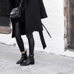 """All black layers ➰ The latest on figtny.com !! ◾️◾️ #Fall #acnestudios #proenzaschouler #ps11 #myaritzia #figtny"""