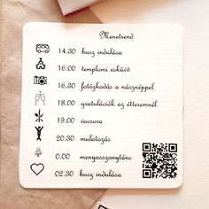 DIY rustic vintage wedding invitation timerule with QR code to our wedding webpage