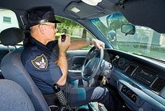 Policeman On Radio. Police officer in his squad car, talking on his radio , Police Radio, Your Fired, Your Boss, Criminal Justice System, Walkie Talkie, Police Officer, Science And Technology, Crime, Communication