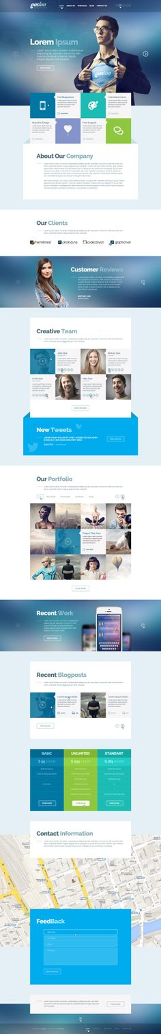 Gosloo — PSD Template . More info on http://themeforest.net/item/gosloo-psd-template/6627416?ref=ubaidullahbutt