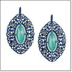 Blue Openwork Earrings - AVON $7.99