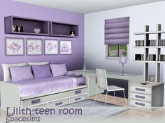 spacesims' Lilith teen room