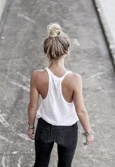 tank & black jeans