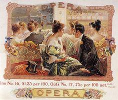 The Opera --cigar box label