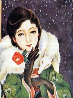 Painting by Kasho Takabatake Japanese Art Styles, Japanese Modern, Japanese Beauty, Vintage Japanese, Japanese Illustration, Illustration Art, Vintage Posters, Vintage Art, Grafic Art
