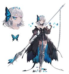Character Design Animation, Female Character Design, Character Design References, Character Design Inspiration, Character Art, Anime Chibi, Anime Art, Cyberpunk Character, Anime Weapons