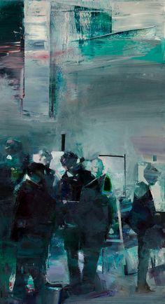 """Gyzi's workshop in Munich"" oil on canvas, 112x62 cm"