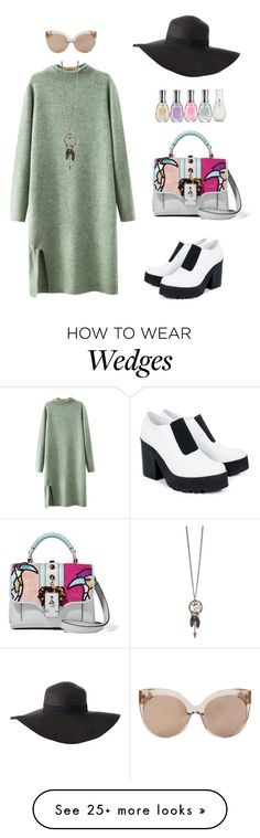 """NYFW #3"" by amlhrs on Polyvore featuring Chicnova Fashion, Miista, Paula Cademartori, Charlotte Russe, Linda Farrow, Sally Hansen, women's clothing, women, female and woman"