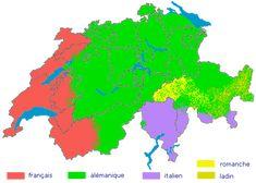 Langues de Suisse: La Suisse a quatre langues nationales: l'allemand, le français, l'italien et le romanche et trois langues officielles: l'allemand, le français et l'italien.   En Suisse romande, on parle le français... avec l'accent suisse, plutôt que les dialectes romands de la famille du francoprovençal.