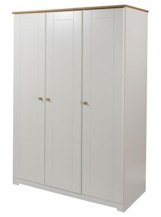 Awesome Kolo Door Large Wardrobe Off Cream and Oak With Hanging Rail and Shelf