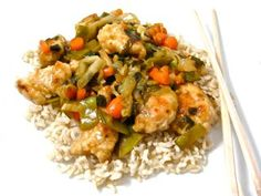 Panda Express Orange Chicken Made Skinny! You bet with my new skinny remake. It's fantasticly de-licious! One skinny serving including brown rice. 390 calories, 4 grams of fat and 10 Weight Watchers POINTS PLUS. Served without brown rice, Weight Watchers POINTS PLUS 7. http://www.skinnykitchen.com/recipes/panda-express-orange-chicken-made-skinny/