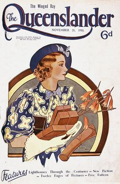 Illustrated front cover from The Queenslander, November 21, 1935 by State Library of Queensland, Australia, via Flickr