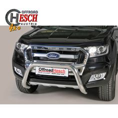 Frontschutzbügel Ford Ranger, Edelstahl Poliert Ford Ranger, Offroad, Nissan Navara, Car, Stainless Steel, Black, Off Road, Automobile, Vehicles