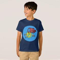 #sneaky deep fish going to cheat cartoon T-Shirt - #cool #kids #shirts #child #children #toddler #toddlers #kidsfashion