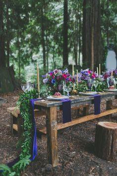 dreamy woodland wedding table decor inspiration