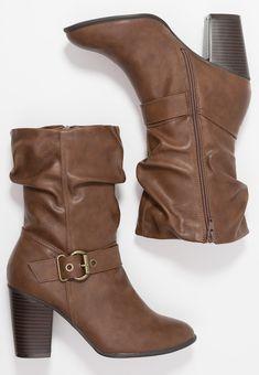 6e3888daa317e2 Dorothy Perkins Wide Fit WIDE FIT KLARISSA - Cowboy/Biker boots - tan -  Zalando