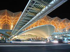 Oriente railways Station, Lisbon - Portugal by Santiago Calatrava, Architect