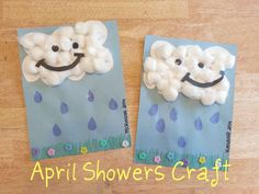 Flowers art projects for kids preschool april showers 55 Ideas Preschool Projects, Daycare Crafts, Classroom Crafts, Projects For Kids, Art Projects, Science Classroom, Weather Crafts, Rainy Day Crafts, Spring Crafts For Kids