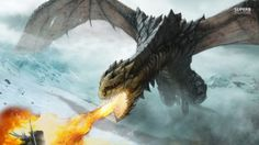 dragons breathing fire | Fire breathing dragon wallpaper