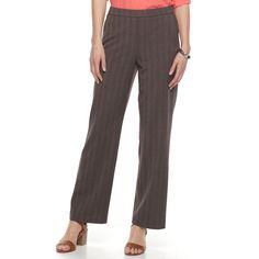 Women's Dana Buchman Pull-On Dress Pants, Size: 14 Short, Med Brown