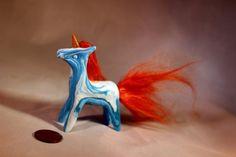 Polymer clay fantasy unicorn decoration by TheUnicornLand on Etsy