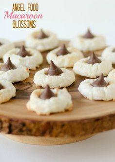 Angel Food Macaroon Blossoms -- made with Angel Food Cake mix.  My new favorite holiday cookie!!