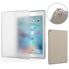 soft silicone skin flexible tpu frosted rubber back cover for #ipad pro promotion from $0.01